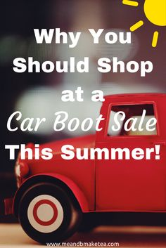 I love shopping at car boot sales. If you are in the States then you probably call them garage sales or flea markets. I basically like hunting out a bargain for vintage home decor and shabby chic items and i love saving money when it comes to toys and baby items!