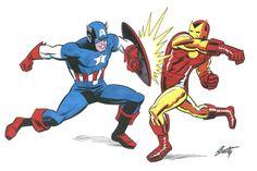 Captain America vs Iron Man by Terry Beatty
