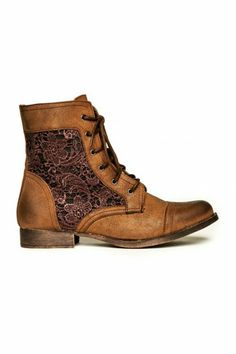 c4193784a90 Remie Lace Boot in Brown Combat Boots