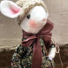 New Mouse Kit - Edith. + P&P UK All other countries P&P Liberty of London fabric plus wool and everything else you need to make her and her little satchel. Fully illustrated instructions DM me to pre order Kits will be dispatched within 7 days Mollie Makes, Liberty Of London Fabric, Antique Lace, Winter Landscape, Watercolor Illustration, Hand Knitting, Fairy, Teddy Bear, Hand Painted