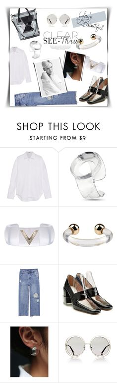 """""""⤷ 203"""" by lovaconsultancy on Polyvore featuring Balenciaga, ZIIIRO, Valentino, Marc by Marc Jacobs, Maison Margiela, Chloé, Eytys, Vince, LIST and clear"""