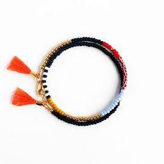 Beaded Bracelet, Wrap Bracelet, Tassel Bracelet, Friendship Bracelet, Gift for Her