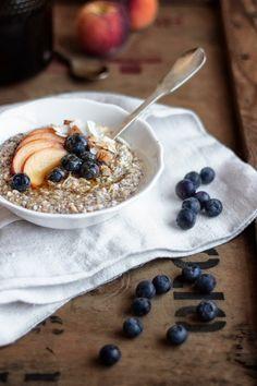 Oat, buckwheat and chia raw porridge