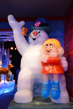 Frosty the Snowman in ICE! at Gaylord Palms Resort - Photos and Video, Attraction Runs Through January 5th, 2014  #Frosty #GPice #IceSculptures