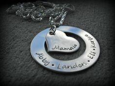 Family Necklace  Grandmother Necklace  Nana by CharmletteDesigns, $28.00