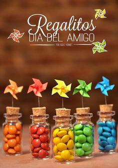 cute pinwheels + candy favors