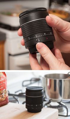 Kitchen timer that looks like a camera lens