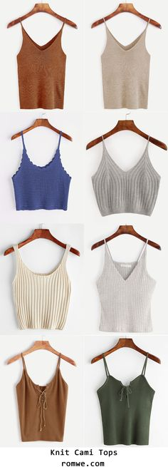 Knit Cami Tops Collection 2017 -romwe.com