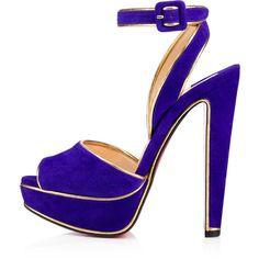 Women Shoes (28 220 UAH) via Polyvore featuring shoes, sandals, purple shoes и velour shoes