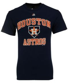 c8e78742f6350d Majestic Men s Houston Astros Hit and Run T-Shirt - Blue M Sports Fan Shop