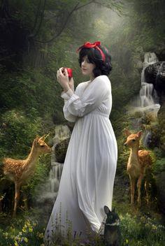 "Snow White... innocence within darkness. ~ Gracie /// ""Snow White"" by Phatpuppyart"