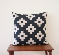 18x 18 Decorative Pillow Cushion Cover  Geometric by BeadandReel