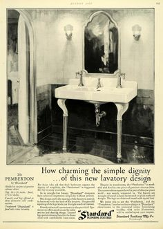 Bathroom Fixtures Pittsburgh 1927 ad standard plumbing fixtures sink bathroom chenoweth home