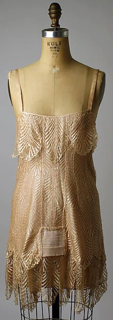 Corset Date: 1920–25 Culture: French Medium: silk, rubber, cotton Accession Number: 1981.518.10