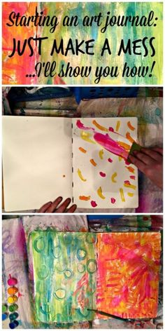 How to Make Your First Art Journal Page | Art Journaling for Cheap - Dollar Store Crafts