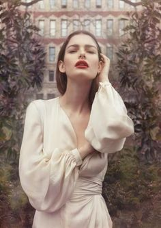 Ethereal Bride | Red Lip | European Wedding Inspiration | The Bridal Atelier | www.thebridalatelier.com.au