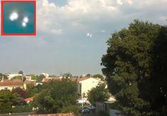 FRANÇA - Avistamento de UFOs sobre um Bairro em Bordeaux 12 Agosto 2015 Vídeo