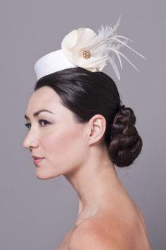 "Bijou Van Ness - Bridal Pillbox - ""Borrego"" Style Name"