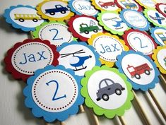 #Transportation Vehicles on the Go #Cupcake Toppers @adorebynat