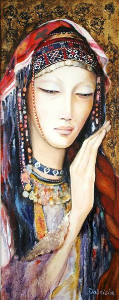 "Saatchi Online Artist: Dobriela Koeva; Oil, 2011, Painting ""Bulgarian girl"""
