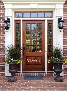Welcome Front Door Vinyl Decal -- Free Shipping via Etsy