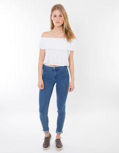 Camisetas baratas hombro descubierto - Shana