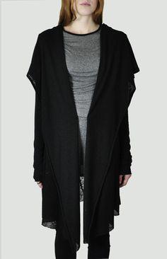 NOCTEX - Open Knit Shawl Cardigan - LIMITED