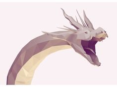 Model creature monster 3D mean evil dragon mythical c4d render cinema 4d low poly lowpoly hydra