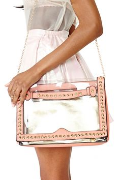 Pretty Clear Clutch in Accessories Bags at Nasty Gal