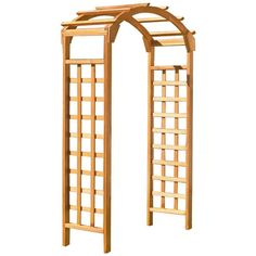 Natural Arch 84 x 48 in. Outside Wooden Garden Arbor, Browns/Tans