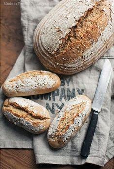 Bread is my favorite food. Bread Bun, Pan Bread, Bread Baking, Pain Au Levain, Healthy Bread Recipes, Rustic Bread, Gula, Our Daily Bread, Tortilla