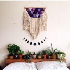 Bohemian Bedroom Interior Design | Gypsy Room | Decorating | Boho Wall Hanging | Moon Phases
