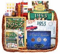 60th Anniversary Gift Basket - 60th Birthday Gift Basket