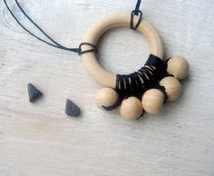 Nursing necklace with ring Teething necklace by MiracleFromThreads, $12.90