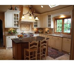 These traditional style mullions create interest and balance in this kitchen.