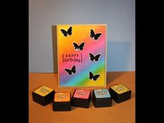 Birthday card with distress ink background | Life in Moments...