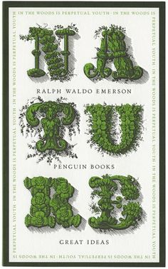 Ralph Waldo Emerson, Penguin Books, Typography Letters, Typography Design, Book Cover Design, Book Design, Designers Gráficos, Design Editorial, Book Covers