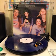 Came home to this today! Hinds debut album pressed on limited translucent blue!  A fun low-fi sounding garage pop band from Madrid. #vinylcommunity #nowspinning #HINDS #leavemealone #vivahinds by erickmartinez5