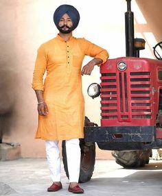 Punjabi Kurta Pajama Men, Punjabi Boys, Fashion Line, Boy Fashion, Mens Fashion, Mens Kurta Designs, Punjabi Fashion, Turban Style, Men's Wardrobe