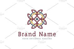 Equilateral Celtic Cross Logo Templates Logo design with concept of stylized equilateral cross with two interlaced rings. Design has distinc by Zack Fair Design
