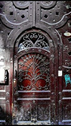 Gorgeous iron door
