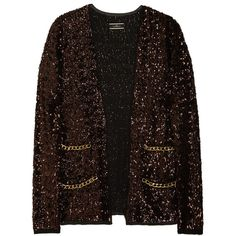By Malene Birger Seconda sequined crepe jacket ($795) ❤ liked on Polyvore