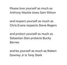 Anthony Mackie as Falcon (Sam Wilson), Chris Evans as Captain America (Steve Rogers), Sebastian Stan as Bucky Barnes, and Robert Downey Jr. as Iron Man (Tony Stark)