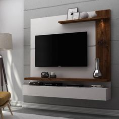 Fabulous TV Wall Design Ideas For Cozy Living Room - Good Housekeeping Mantra - Home decor interests Bedroom Tv Unit Design, Tv Unit Bedroom, Tv Unit Furniture Design, Tv Unit Interior Design, Bedroom Tv Wall, Living Room Tv Unit Designs, Tv Wall Design, Tv Cabinet Design Modern, Tv Cupboard Design