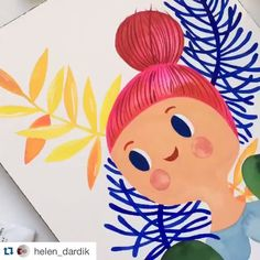@helen_dardik together with @carolynj made the illustrations for the #flowcoloringbook. Follow her inspiring account with mini video's. And find more info about the coloring book in our shop at flowmagazine.com #flowmagazine #regram