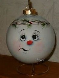 Image result for Cute Snowman Faces to Paint