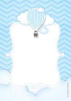 Airballoon Baby Shower invitation by glitterinvitescy on Etsy Scrapbook Bebe, Baby Boy Scrapbook, Babyshower Party, Balloon Invitation, Shower Invitation, Baby Shower Souvenirs, Baby Shower Invitaciones, Baby Stickers, Baby Frame