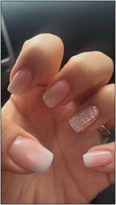 nails french tip glitter ~ nails french tip . nails french tip color . nails french tip with design . nails french tip glitter . nails french tip ombre . nails french tip acrylic . nails french tip coffin . nails french tip short Nail Design Glitter, Bling Nail Art, Bling Nails, My Nails, Nude Nails With Glitter, Matte Nails, Gold Nail, Blush Pink Nails, Gelish Nails