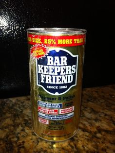 How to Clean Brass with Bar Keepers Friend. Worked perfect !