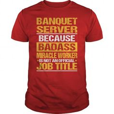 Awesome Tee For Banquet Server - #photo gift #cute gift. Awesome Tee For Banquet Server, shirt diy,shirts. SECURE CHECKOUT =>...